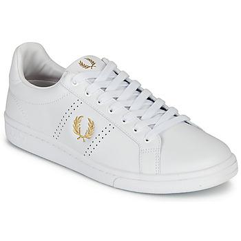 Topánky Muži Nízke tenisky Fred Perry B721 LEATHER Biela