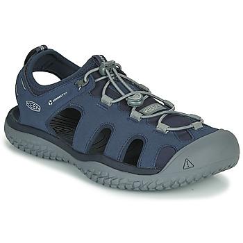 Topánky Muži Športové sandále Keen SOLR SANDAL Modrá / Šedá
