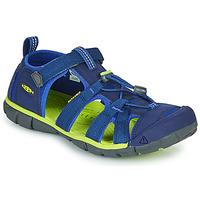 Topánky Deti Športové sandále Keen SEACAMP II CNX Modrá / Zelená