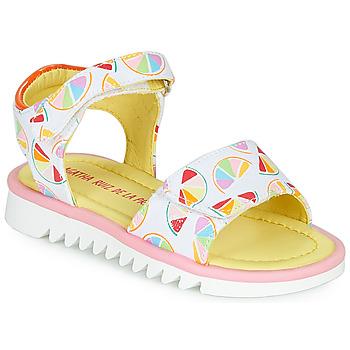 Topánky Dievčatá Sandále Agatha Ruiz de la Prada SMILES Biela / Viacfarebná