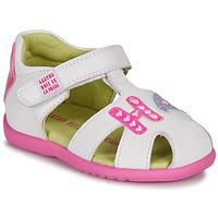 Topánky Dievčatá Sandále Agatha Ruiz de la Prada HAPPY Biela / Ružová
