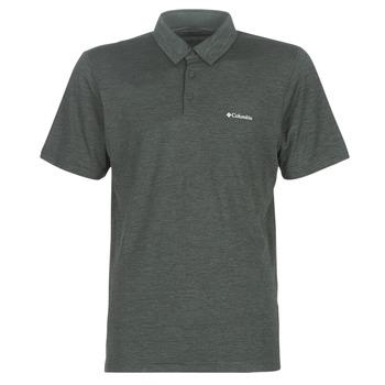 Oblečenie Muži Polokošele s krátkym rukávom Columbia TECH TRAIL POLO Šedá