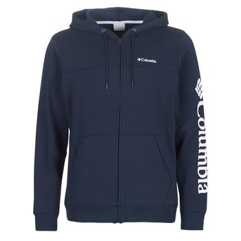 Oblečenie Muži Mikiny Columbia COLUMBIA LOGO FLEECE FULL ZIP Modrá