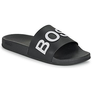 Topánky Muži športové šľapky BOSS BAY SLID RBLG Čierna / Biela