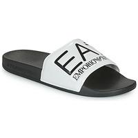 Topánky športové šľapky Emporio Armani EA7 SEA WORLD VISIBILITY SLIPPER Čierna / Biela