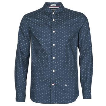 Oblečenie Muži Košele s dlhým rukávom Pepe jeans ADAN Námornícka modrá