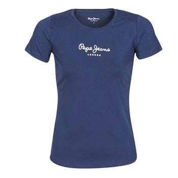 Oblečenie Ženy Tričká s krátkym rukávom Pepe jeans NEW VIRGINIA Námornícka modrá