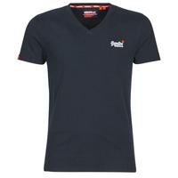 Oblečenie Muži Tričká s krátkym rukávom Superdry ORANGE LABEL VNTGE EMB VEE TEE Eclipse / Námornícka modrá
