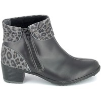 Topánky Ženy Čižmičky Boissy Boots Noir Leopard Čierna