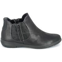 Topánky Ženy Polokozačky Boissy Boots Noir texturé Čierna