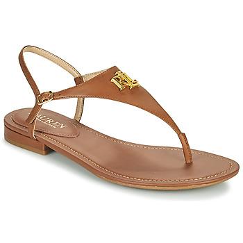 Topánky Ženy Sandále Lauren Ralph Lauren ELLINGTON SANDALS CASUAL Koňaková
