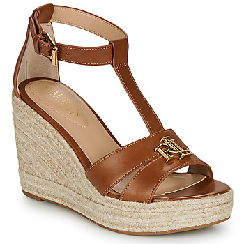 Topánky Ženy Sandále Lauren Ralph Lauren HALE ESPADRILLES CASUAL Koňaková