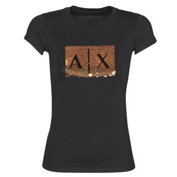 Oblečenie Ženy Tričká s krátkym rukávom Armani Exchange HONEY Čierna