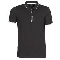 Oblečenie Muži Polokošele s krátkym rukávom Armani Exchange HANEMO Čierna