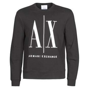 Oblečenie Muži Mikiny Armani Exchange HELIX Čierna