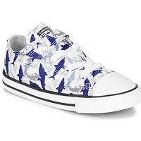 Topánky Chlapci Nízke tenisky Converse CHUCK TAYLOR ALL STAR 1V SHARK BITE - OX Modrá / Biela