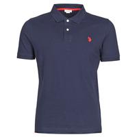 Oblečenie Muži Polokošele s krátkym rukávom U.S Polo Assn. INSTITUTIONAL POLO Námornícka modrá