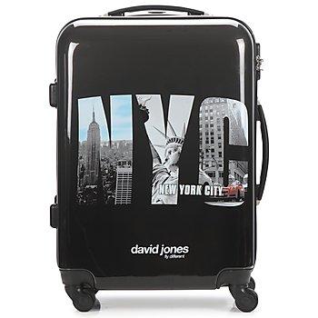 Tašky Pevné cestovné kufre David Jones STEBI 53L Čierna