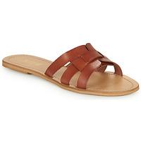 Topánky Ženy Šľapky So Size MELINDA Ťavia hnedá
