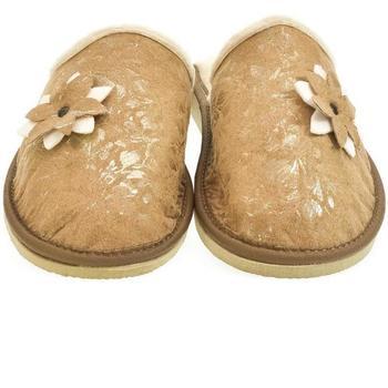 Topánky Ženy Papuče John-C Dámske hnedé papuče FLOWA 2 ťavia