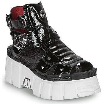 Topánky Ženy Sandále New Rock LIYA Čierna / Biela