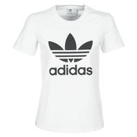 Oblečenie Ženy Tričká s krátkym rukávom adidas Originals TREFOIL TEE Biela
