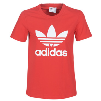 Oblečenie Ženy Tričká s krátkym rukávom adidas Originals TREFOIL TEE Červená