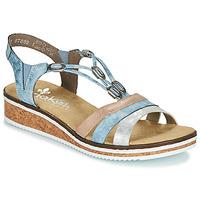 Topánky Ženy Sandále Rieker LAKTOS Modrá