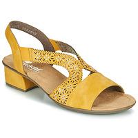 Topánky Ženy Sandále Rieker NOUCK Žltá