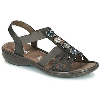 Topánky Ženy Sandále Rieker ANOUCK Čierna