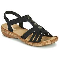 Topánky Ženy Sandále Rieker NEX Čierna