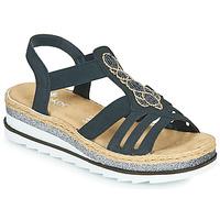 Topánky Ženy Sandále Rieker LOUANN Čierna