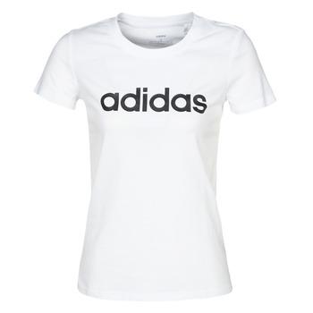 Oblečenie Ženy Tričká s krátkym rukávom adidas Performance E LIN SLIM T Biela