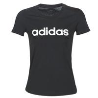 Oblečenie Ženy Tričká s krátkym rukávom adidas Performance E LIN SLIM T Čierna