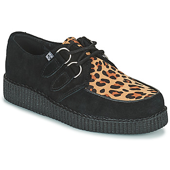 Topánky Derbie TUK LOW FLEX ROUND TOE CREEPER Čierna / Leopard