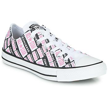 Topánky Ženy Členkové tenisky Converse Chuck Taylor All Star Logo Play Biela / Ružová / Čierna
