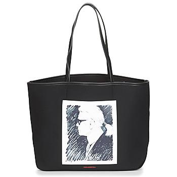 Tašky Veľké nákupné tašky  Karl Lagerfeld KARL LEGEND CANVAS TOTE Čierna