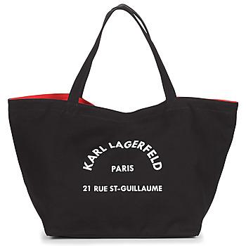 Tašky Ženy Veľké nákupné tašky  Karl Lagerfeld RUE ST GUILLAUE CANVAS TOTE Čierna