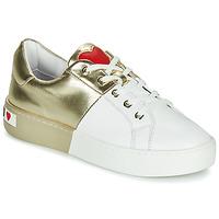 Topánky Ženy Nízke tenisky Love Moschino BI-COLOR SHOES Biela / Zlatá