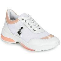 Topánky Ženy Nízke tenisky Love Moschino RUN LOVE Biela / Ružová