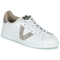 Topánky Ženy Nízke tenisky Victoria TENIS PIEL GLITTER Biela / Ružová