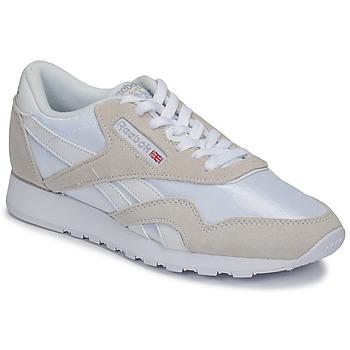 Topánky Nízke tenisky Reebok Classic CL NYLON Biela / Béžová