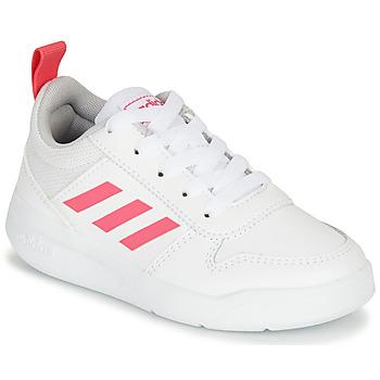 Topánky Dievčatá Nízke tenisky adidas Performance TENSAUR K Biela / Ružová