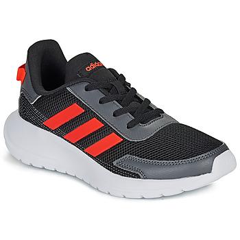 Topánky Deti Nízke tenisky adidas Performance TENSAUR RUN K Čierna / Červená