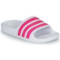Topánky Dievčatá športové šľapky adidas Performance ADILETTE AQUA K Biela / Ružová