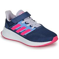 Topánky Dievčatá Nízke tenisky adidas Performance RUNFALCON C Modrá / Ružová