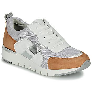 Topánky Ženy Nízke tenisky Caprice BEBENE Biela / Ťavia hnedá