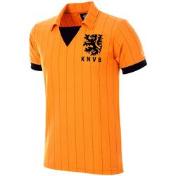 Oblečenie Muži Tričká s krátkym rukávom Copa Football Maillot rétro Pays-Bas 1983 orange