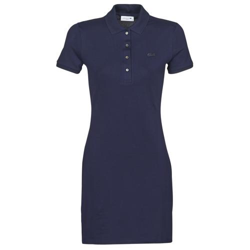 Oblečenie Ženy Krátke šaty Lacoste SOLENE Námornícka modrá