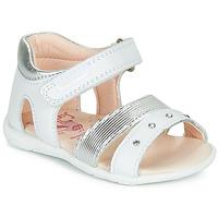 Topánky Dievčatá Sandále Pablosky DINNA Biela / Strieborná